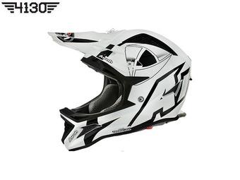 2016 Airoh Fighters Millenium Helmet Gloss White / Black (에어로 파이터스 밀레니엄 헬멧)
