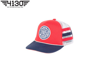 SUBROSA Steezy Rider Trucker Hat Red -White/Blue-