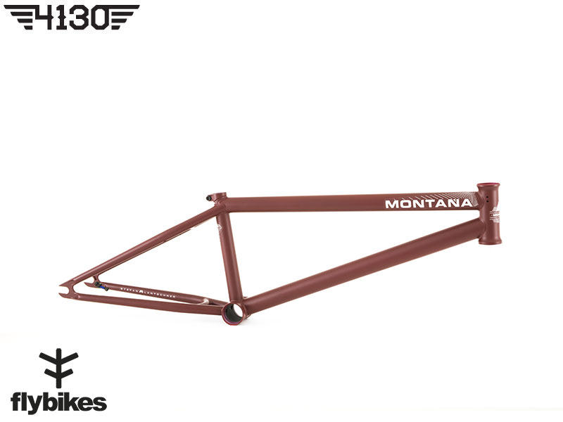 """FLY MONTANA7 BMX Frame 20.8""""TT -Flat Wine Red-"""